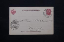 FINLANDE - Carte De Correspondance De Eura Pour Helsinki En 1901 ( Administration Russe ) - L 28073 - Storia Postale