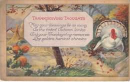 FETES - THANKSGIVING :  Illustration Avec Dinde / Illustration With Turkey - CPA Colorisée 1923 - - Thanksgiving