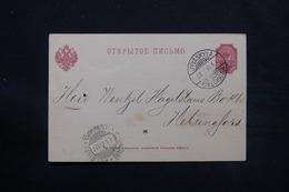 FINLANDE - Carte De Correspondance De Jyväskylä En 1901 ( Administration Russe ) - L 28078 - Storia Postale