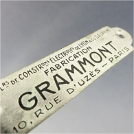 ~ PLAQUE DE TELEPHONE GRAMMONT EN LAITON - Téléphonie Communication Colombes - Telephony