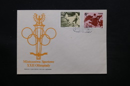 POLOGNE - Enveloppe FDC  Jeux Olympiques , 1983 - L 28081 - FDC