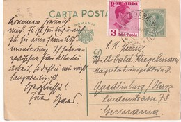 ROUMANIE 1938    ENTIER POSTAL/GANZSACHE/POSTAL STATIONERY CARTE  AVEC CACHET FERROVIAIRE/ZUGSTEMPEL SIGHISOARA-SIBIU - Entiers Postaux