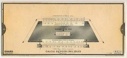 Abaques - OMARO -           Calcul Du Poids Et Des Prix (Carton) - Technical Plans