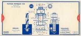 Abaques - OMARO -            Filetages(Carton) - Technical Plans