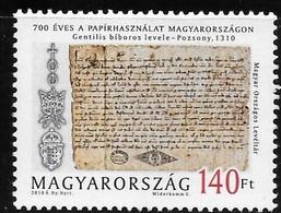 Hungary 2010 700 Years Paper Usage MNH - Neufs