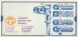 Abaques - OMARO -           Comptoir Général Des Métaux -           Duretés - Tôles - Fers Plats (Carton) - Technical Plans