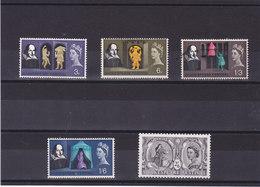 GB 1964 SHAKESPEARE Yvert 382-386 NEUF** MNH - 1952-.... (Elizabeth II)