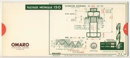 Abaques - OMARO -           Filetages (Carton) - Technical Plans