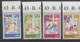 Faroe Islands 1982 Medieval Balad 4v ** Mnh (42571F) - Faeroër