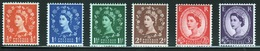 GB Queen Elizabeth 1957 Complete Set Of Graphite Lined Issue Wildings With St Edward's Crown Watermark. - Unused Stamps
