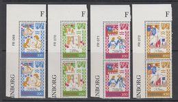 Faroe Islands 1982 Medieval Balad 4v (pair, Corner) ** Mnh (42571G) - Faeroër