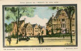 PUBLICITE LION NOIR(PARIS) CITE UNIVERSITAIRE - Publicité