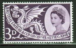 GB Queen Elizabeth 1958 Single Stamp To Celebrate The 6th British Empire Games. - 1952-.... (Elizabeth II)