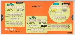 Abaques - OMARO -         Poids Des Métaux (Carton) - Technical Plans