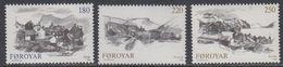 Faroe Islands 1982 Villages 3v ** Mnh (42573) - Faeroër
