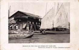 China - Tea House On The Yang Tse Yangtze River - Publ. Larousse. - China