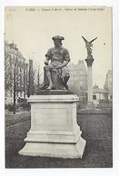 CPA 75 Paris Square D'Anvers Statue De Sedaine - Arrondissement: 09