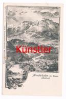 349 Mendelbahn Bozen Gries Panorama Künstlerkarte - Bolzano (Bozen)