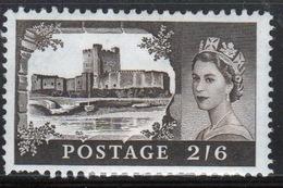 GB Queen Elizabeth 1959 Single 2/6d Castle Stamp With Multiple Crown Watermark Printed By Bradbury Wilkinson. - Nuovi