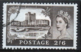 GB Queen Elizabeth 1959 Single 2/6d Castle Stamp With Multiple Crown Watermark Printed By Bradbury Wilkinson. - 1952-.... (Elizabeth II)