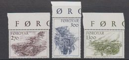 Faroe Islands 1986 Old Bridges 3v (+margin) ** Mnh (39273F) - Faeroër