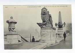 CPA 75 Paris Motifs De Décoration Du Pont Alexandre III - Arrondissement: 08