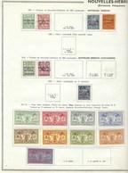 Colonie Française, Lot, Collection, Nouvelles Hébrides Sur Charnière, Quelques Oblitérés, Bonne Qualité, Feuille Thiaude - Collections