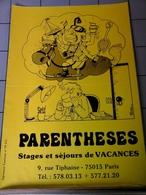 Affiches - Paris - Parentheses Stages Et Séjours De Vacances - Afiches