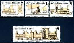 Falkland Islands 1985 70th Anniversary Of Camber Railway Set Of 4, MNH, SG 497/500 - Falkland
