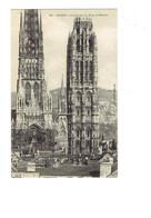 Cpa - 76 - Rouen - Cathédrale - Tour De Beurre - Travaux échafaudage - Bromotypie C.V. 332 - Rouen
