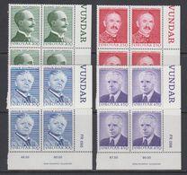 Faroe Islands 1984 Writers 4v Bl Of 4 (corners) ** Mnh (42573C) - Faeroër
