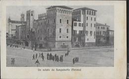 UN SALUTO DA SANGUINETTO (VR) - FORMATO PICCOLO - ANIMATA - VIAGGIATA 1911 - Saluti Da.../ Gruss Aus...