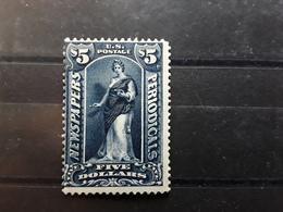US NEWSPAPERS USA Journaux Etats Unis 1896, Scott PR 121, $ 5 Dollars Dark Blue Neuf * MH,  TB VF - Zeitungsmarken & Streifbänder
