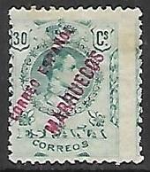 Spanish Morocco  1908  Sc#20  30c MH  2016 Scott Value $8.50 - Spanisch-Marokko