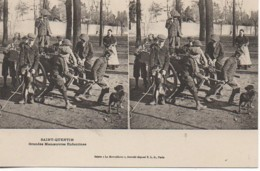 02 SAINT-QUENTIN  Grandes Manoeuvres Enfantines (carte Stéréo) - Saint Quentin