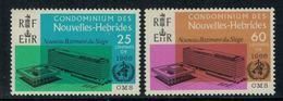 Nouvelles Hébrides // 1960-1980 // 1966 // Inauguration Du Siège De L'OMS à Genève Timbres Neufs** MNH No. Y&T 245-246 - Neufs