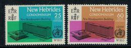 New Hebrides // 1960-1980 // 1966 // Inauguration Du Siège De L'OMS à Genève Timbres Neufs** MNH No. Y&T 247-248 - Légende Anglaise
