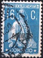 AZZORRE, AZORES, ACORES, PORTUGUESE COLONY, CERES, 1926, 160 C., USATO Mi. 215,  Scott 188,  YT 203, Afi 202 - Azores