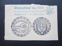 Österreich 1960er Jahre SST West - Ost - Weitwanderweg Bregenz - Rust - Wien Wegereferat Des ÖAV Niederösterreich - 1945-.... 2. Republik