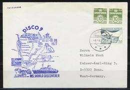 "Grönland, Schiffspost ""MS World Discoverer""; Gest. Julianehab Am 04.08.1977; B-1116 - Storia Postale"