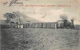 Guatemala - Ferro-Carril En El Ingenio Pantaleon - Sugar Cane Railway - SEE STAMPS - Publ. Valdeavellano 79. - Guatemala