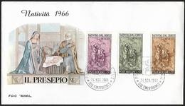 1966 - VATICANO - FDC + Y&T 463/465 [R. Scorzelli] + POSTE VATICANE - FDC