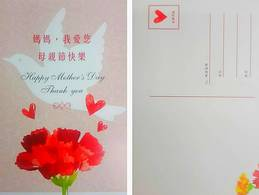 2019 Mother Day Postal Card Carnation Flower Dove Bird - Flowers