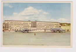 Vintage Rppc SAS S.A.S. Scandinavian Airlines System Douglas Dc-6b Aircraft @ Bromma Airport - 1919-1938: Between Wars