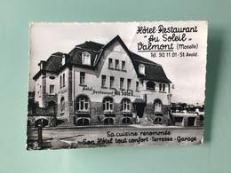VALMONT ( Moselle ) Carte Publicitaire Hôtel-Restaurant « Au Soleil « - Publicité