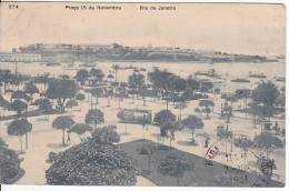 Brazil Rio De Janeiro Praca 15 De Novembro Cartao Postal ( Ribeiro ) Vintage Original Postcard Cpa Ak (W_931) - Rio De Janeiro