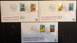 France FDC - Premier Jour - Lot De 3 FDC - Thématique Tintin - 2007 - FDC