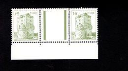 758961101 1983 SCOTT 543 POSTFRIS  MINT NEVER HINGED EINWANDFREI  (XX)  AUGHNAMURE CASTLE PAIR WITH LABEL BETWEEN STAMPS - 1949-... République D'Irlande