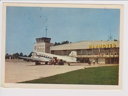 Vintage Rppc SAS S.A.S. Scandinavian Airlines System Douglas Dc-3 Aircraft @ Hannover Airport - 1919-1938: Between Wars