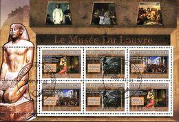 Bloc République De GUINEE   Musée Du Louvre Sacre De Napoleon Taureau Androcephale Aile Les Noces De Cana - Guinea (1958-...)
